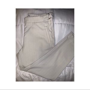 Beige canvas trousers
